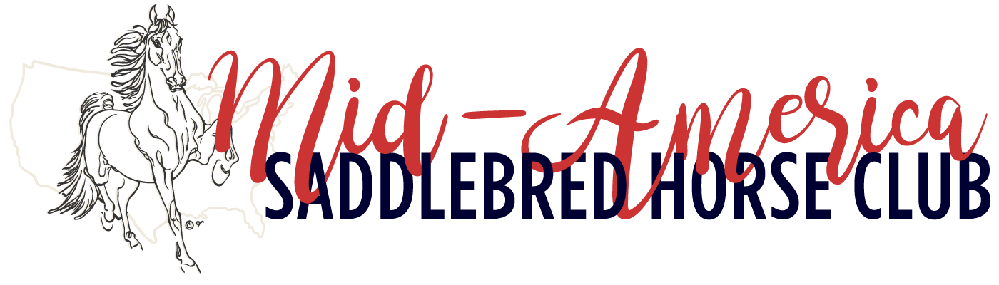 Mid-America Saddlebred Horse Club Retina Logo